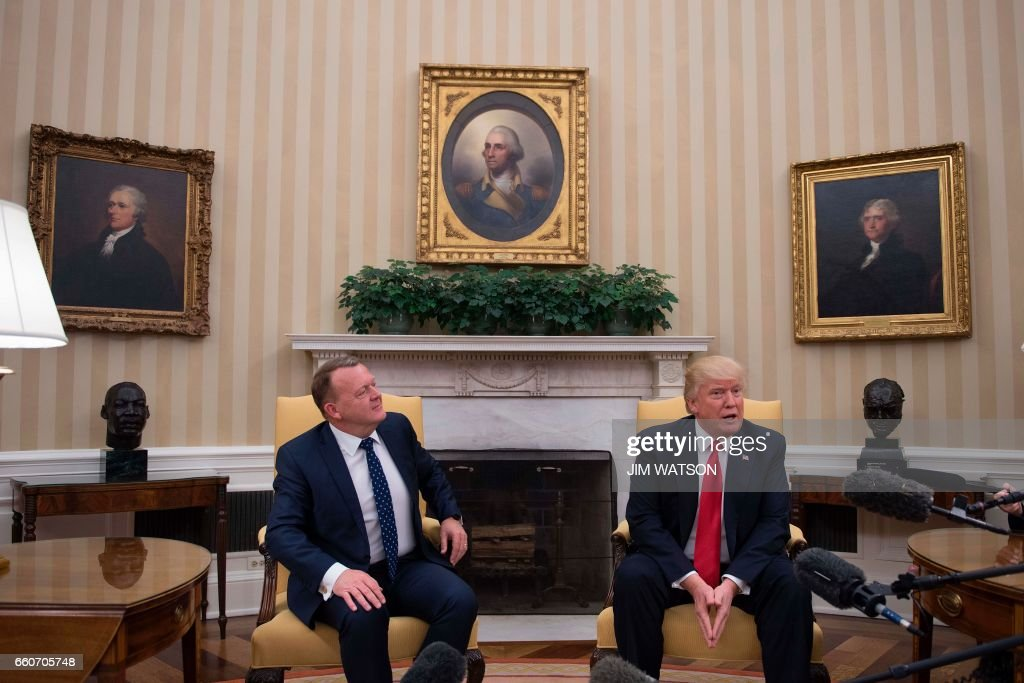US President Donald Trump meets with Danish Prime Minister Lars Lokke Rasmussen at the White House in Washington, DC, March 30, 2017. /
