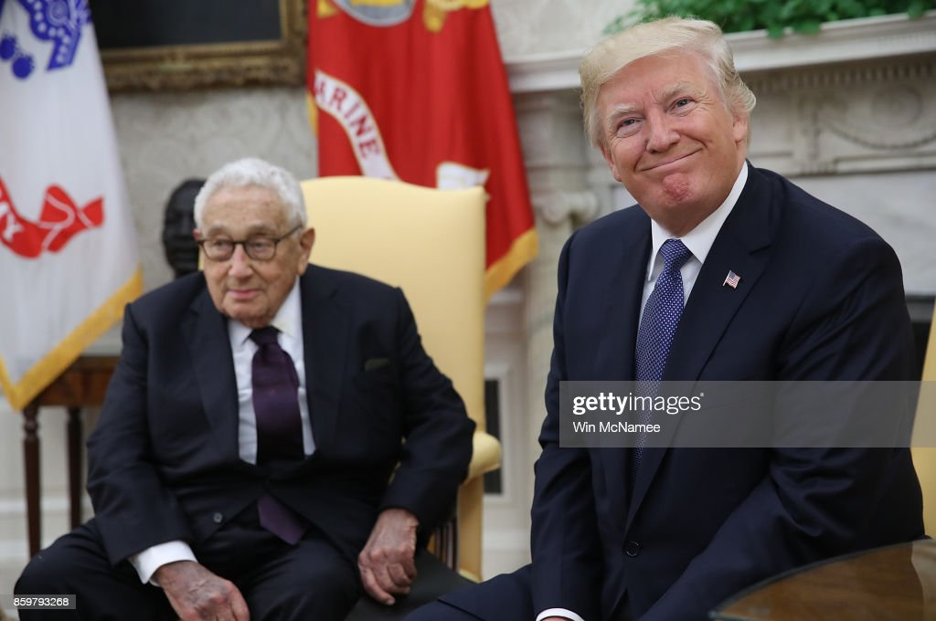 President Trump Meets With Henry Kissinger At The White House