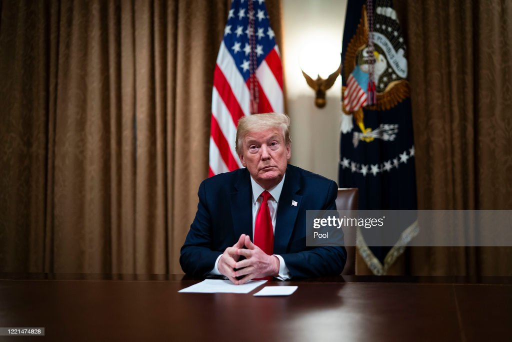 President Trump Meets With Industry Executives On COVID-19 Response : News Photo