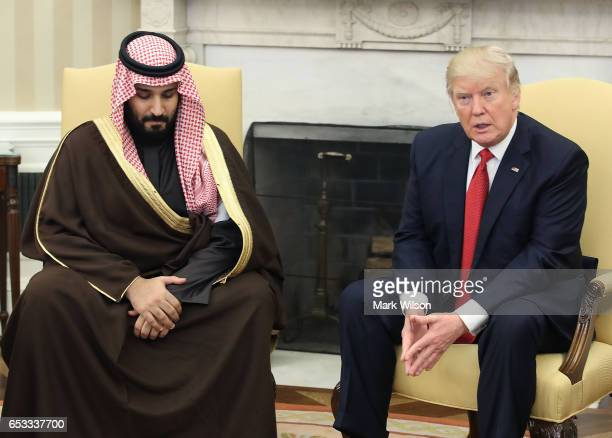 S President Donald Trump meets with Mohammed bin Salman Deputy Crown Prince and Minister of Defense of the Kingdom of Saudi Arabia in the Oval Office...