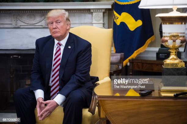 President Donald Trump meets with Turkish President Recep Tayyip Erdogan in the Oval Office of the White House in Washington DC on Tuesday May 16 2017