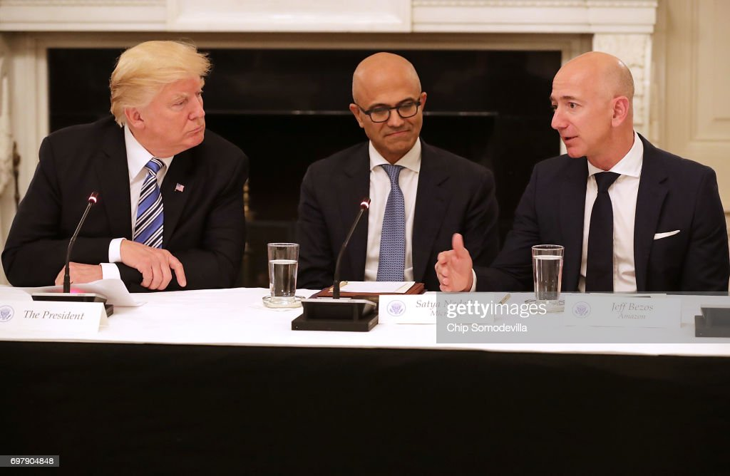 President Trump Hosts American Technology Council Roundtable : News Photo