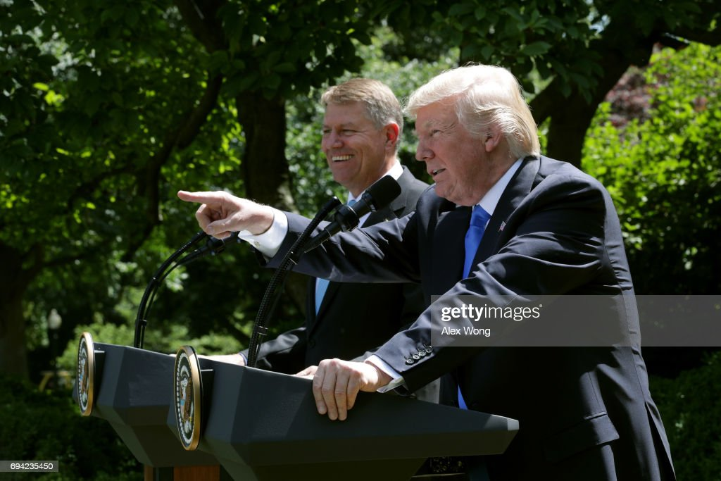 President Trump Holds News Conference With President Of Romania Klaus Iohannis