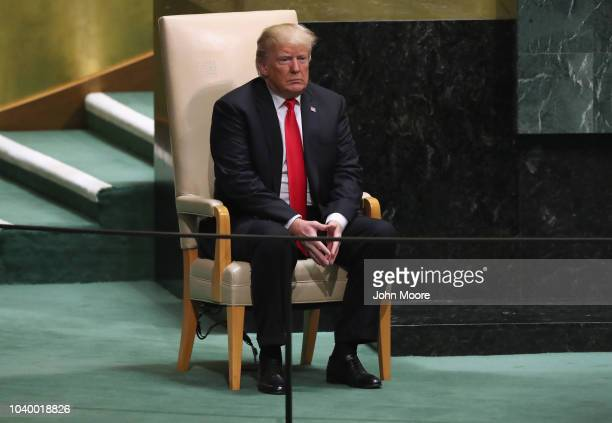 S President Donald Trump prepares to address the 73rd session of the United Nations General Assembly on September 25 2018 in New York City The United...