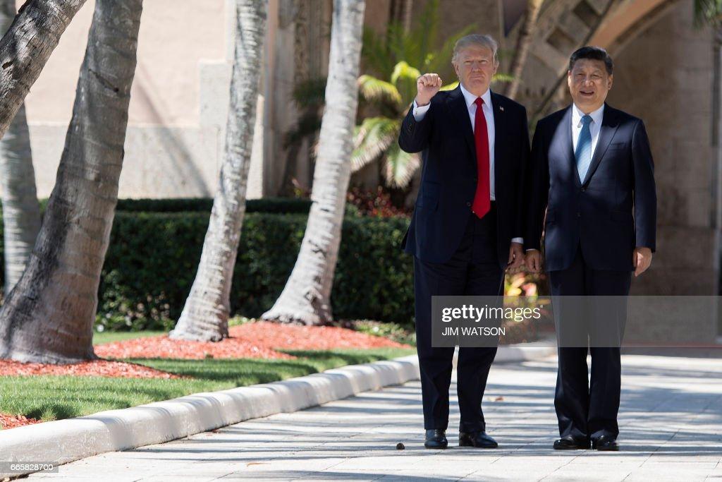 TOPSHOT-US-CHINA-SUMMIT-TRUMP-XI : News Photo