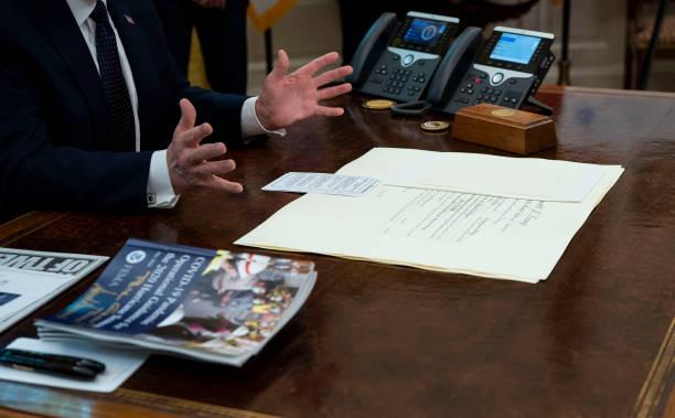DC: President Trump Receives Briefing On 2020 Hurricane Season