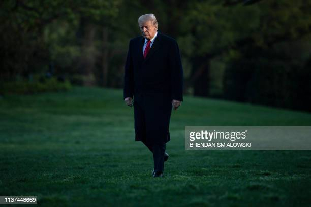 President Donald Trump returns to the White House on April 15 in Washington DC Trump attended April 15 a rountable discussion on the economy and tax...