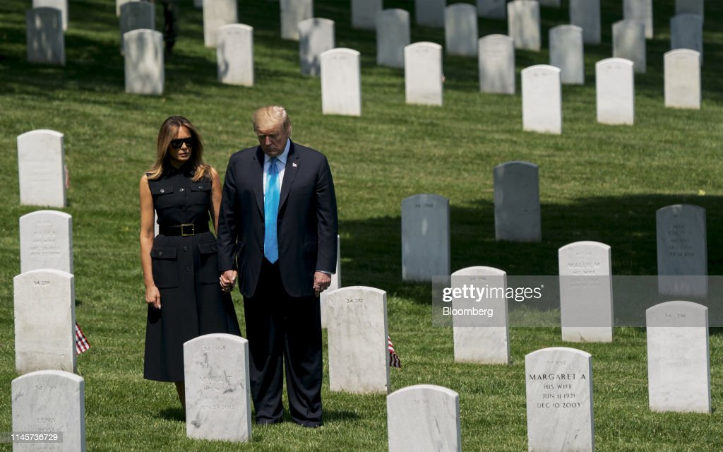 DC: President Trump Visits Arlington National Cemetery