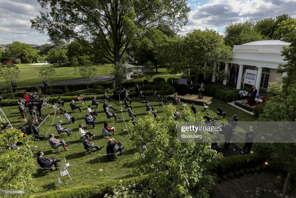 President Trump Holds Press Briefing On Virus Testing : News Photo
