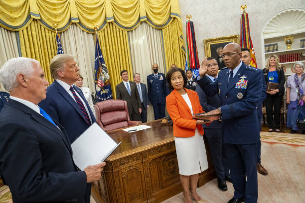 DC: Swearing In Of General Charles Brown As Air Force Chief Of Staff