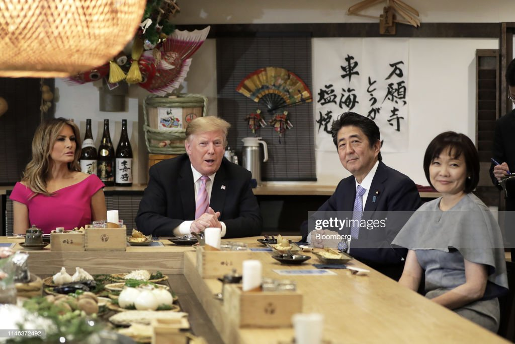 Day Two of President Trump's Visit to Japan : News Photo