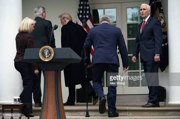 S President Donald Trump Secretary of Homeland Security Kirstjen Nielsen Vice President Mike Pence House Minority Whip Rep Steve Scalise and House...