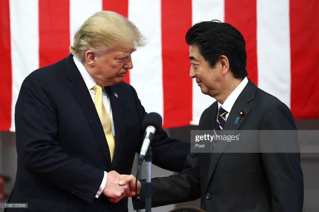 U.S. President Trump Makes State Visit To Japan : News Photo