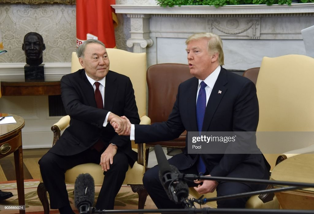 President Trump Hosts Kazakh President Nazarbayev At The White House : News Photo