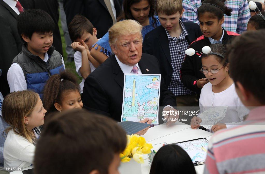 DC: President And Mrs Trump Host Annual White House Easter Egg Roll