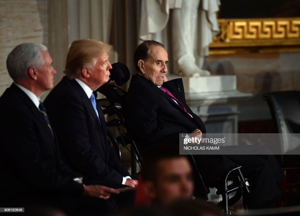 President Trump Attends Congressional Gold Medal Ceremony For Former Senate Majority Leader Bob Dole