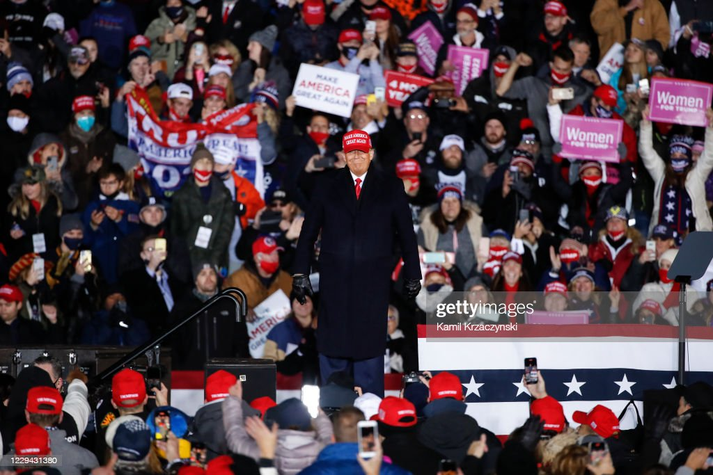 Donald Trump Ends Presidential Campaign With Two Rallies In Michigan : News Photo