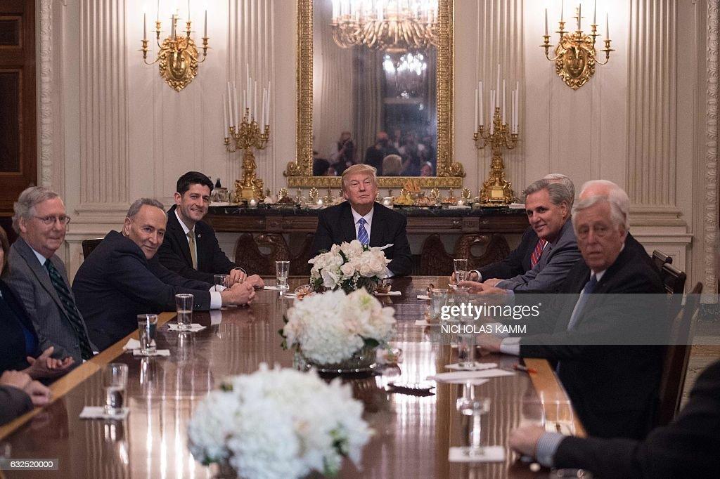 US-POLITICS-TRUMP-CONGRESSIONAL LEADERS : News Photo