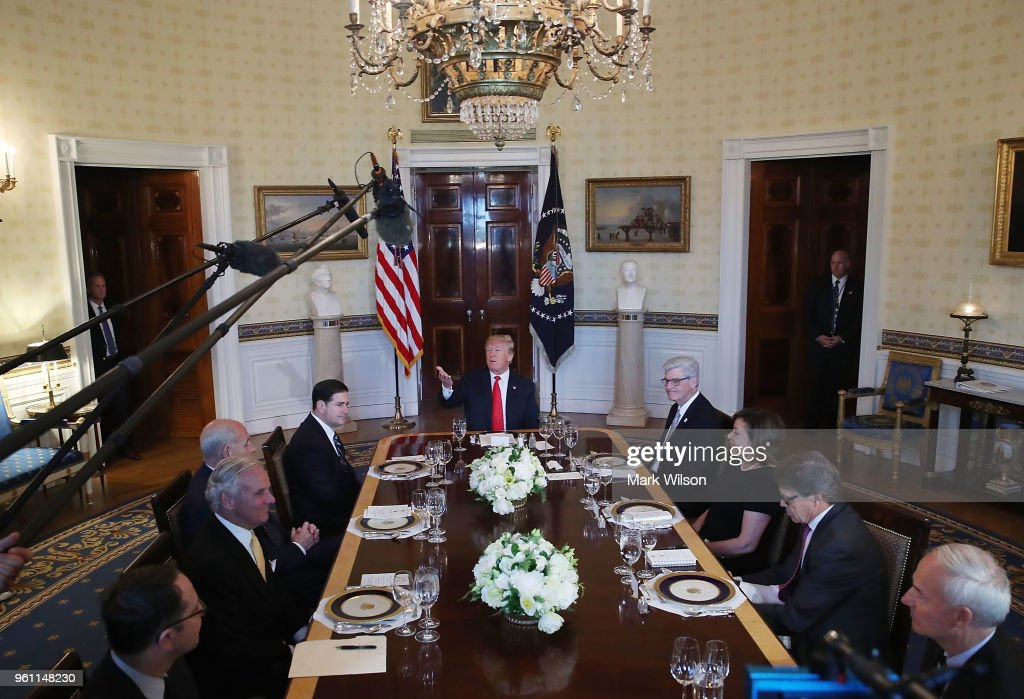 President Trump Hosts Governors For Dinner At The White House To Discuss Border Security And Safe Communities : News Photo