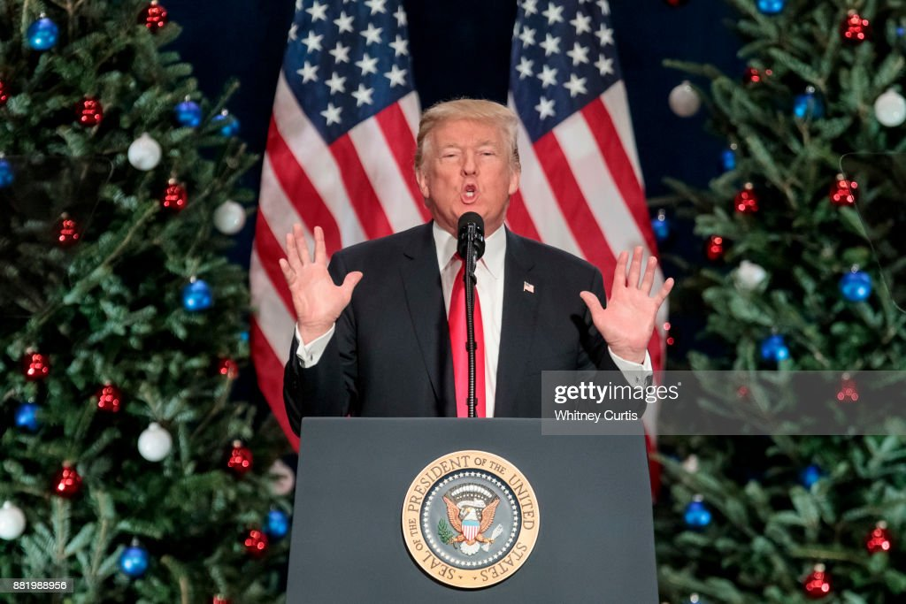 U.S. President Donald Trump speaks about tax reform at the St. Charles Convention Center on November 29, 2017 in St. Charles, Missouri.