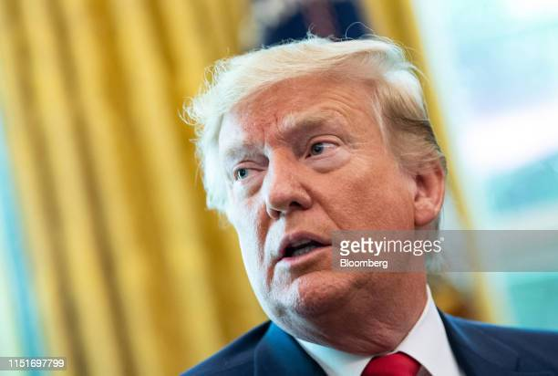 US President Donald Trump speaks after signing an executive order imposing sanctions on Iran's supreme leaderAyatollah Ali Khamenei in the Oval...