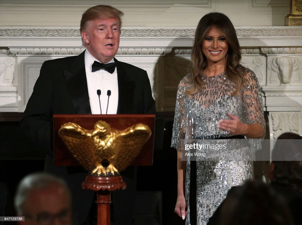 President And Mrs Trump Host White House Historical Association Dinner