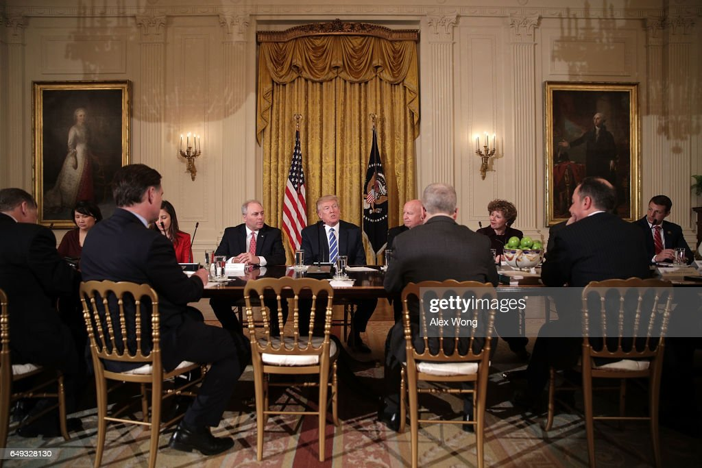 President Trump Meets With House Deputy White Team At The White House