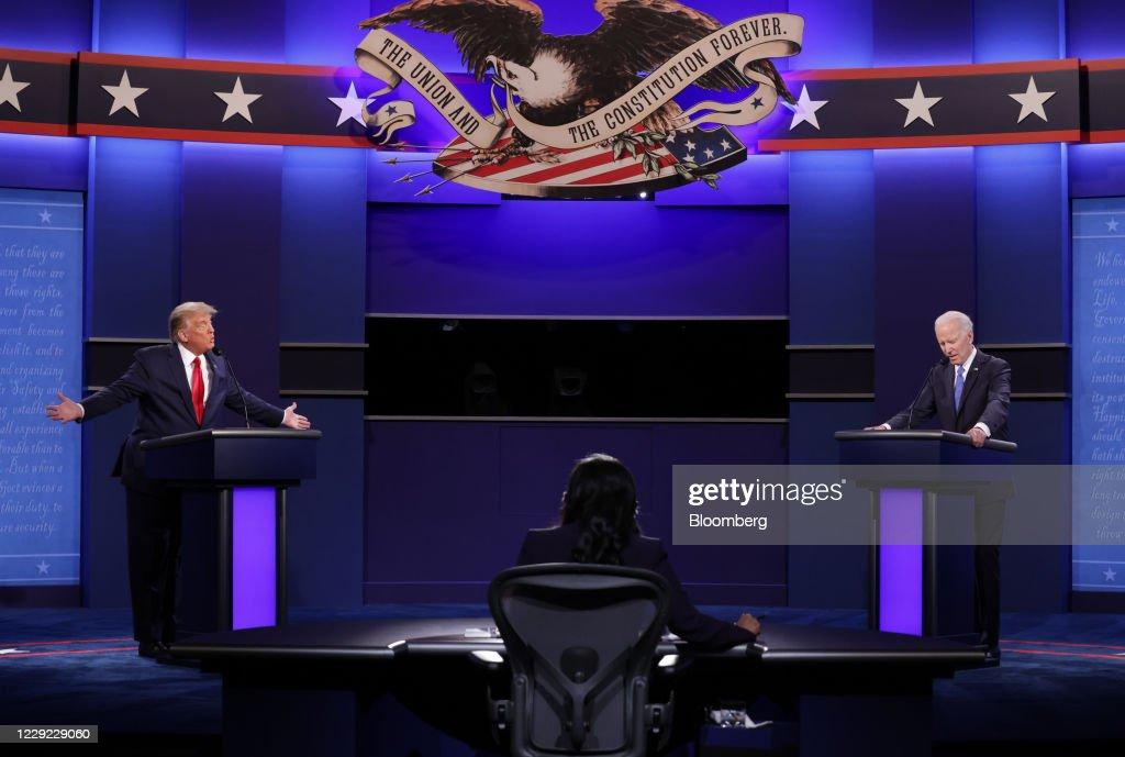 Final U.S. Presidential Debate Between President Trump And Democratic Candidate Joe Biden : ニュース写真