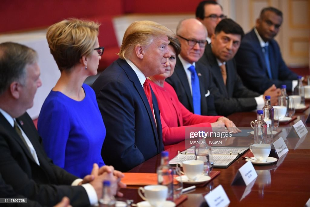 Trump Round Table.Us President Donald Trump Speaks At A Business Roundtable Discussion