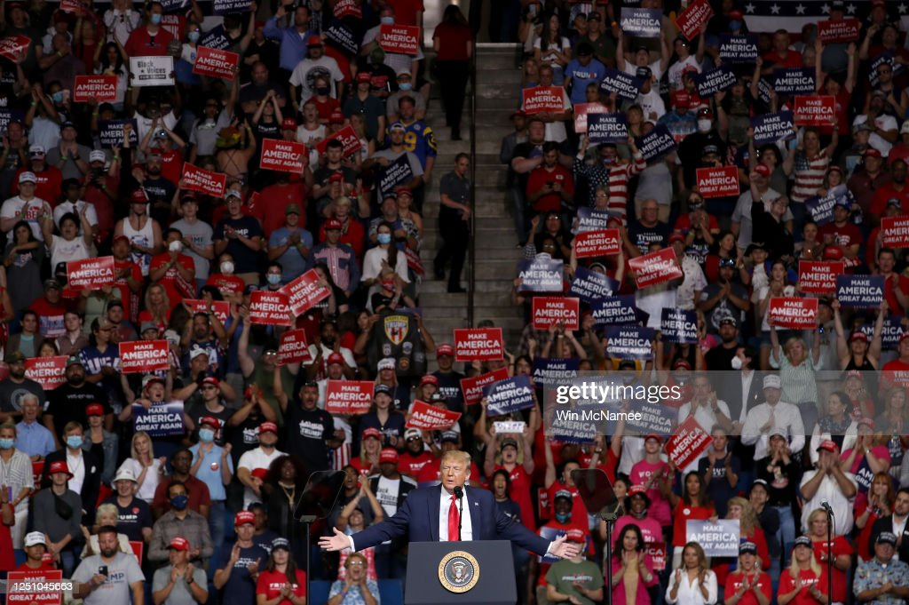 Donald Trump Holds Campaign Rally In Tulsa : News Photo