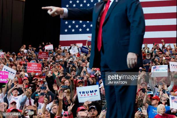 President Donald Trump speaks at a Make America Great Again rally in Cleveland Ohio on November 5 2018