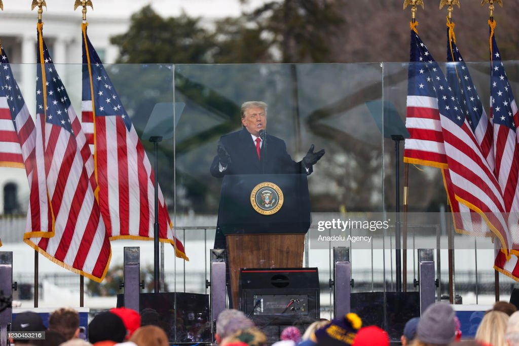 "Trump holds rally in Washington D.C as ""Save America March"" : ニュース写真"