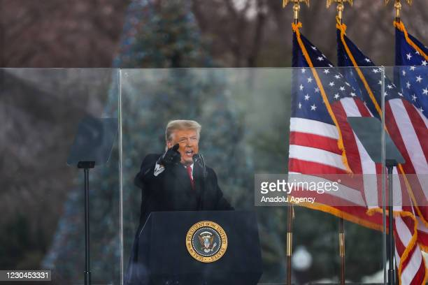 """President Donald Trump speaks at """"Save America March"""" rally in Washington D.C., United States on January 06, 2021."""