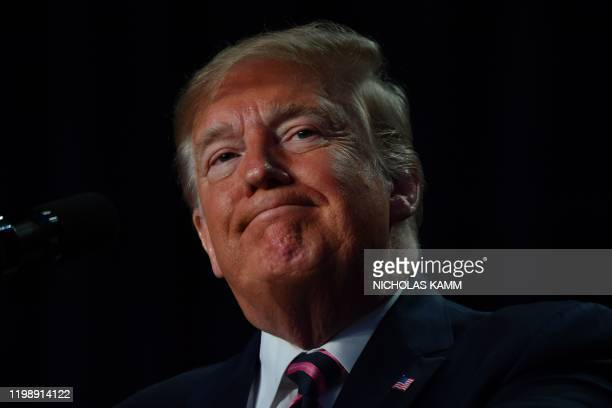 US President Donald Trump speaks at the 68th annual National Prayer Breakfast on February 6 2020 in WashingtonDC President Donald Trump said Thursday...