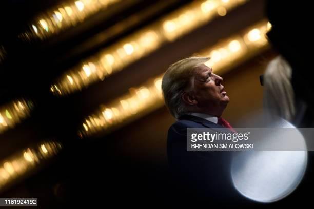 President Donald Trump speaks at the Economic Club of New York at the New York Hilton Midtown November 12 in New York, New York. - European stock...