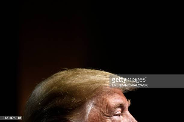 US President Donald Trump speaks at the Economic Club of New York at the New York Hilton Midtown November 12 in New York New York The USChina trade...