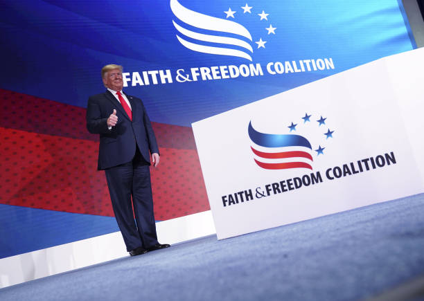 DC: President Trump Addresses Faith & Freedom Coalition Conference In Washington