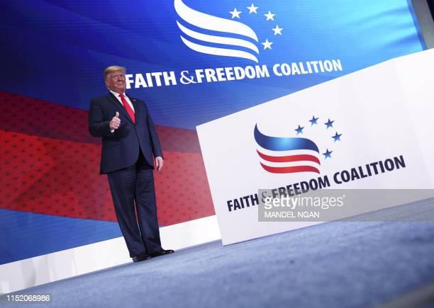 DC: President Trump Addresses Faith & Freedom Coalition Conference In Washington