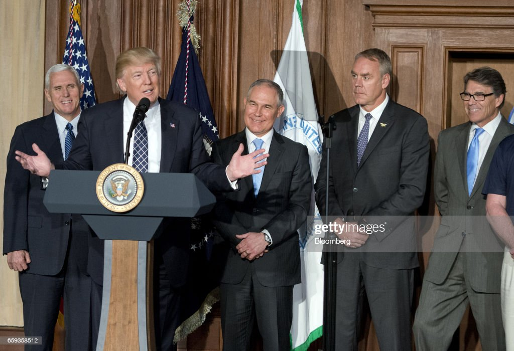President Trump Signs Energy Independence Executive Order At EPA Headquarters