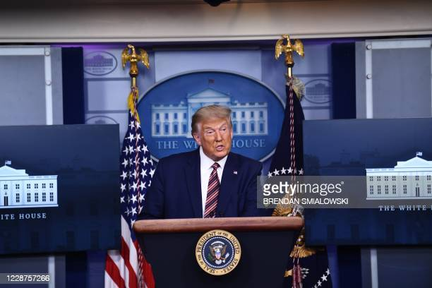 US President Donald Trump speaks during a briefing at the White House September 27 in Washington DC US President Donald Trump paid just $750 in...