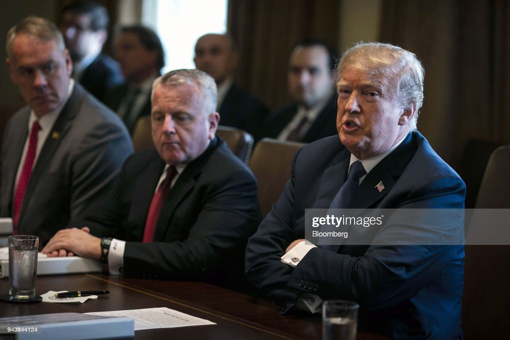 U.S. President Donald Trump Speaks During A Cabinet Meeting At The White  House In Washington,