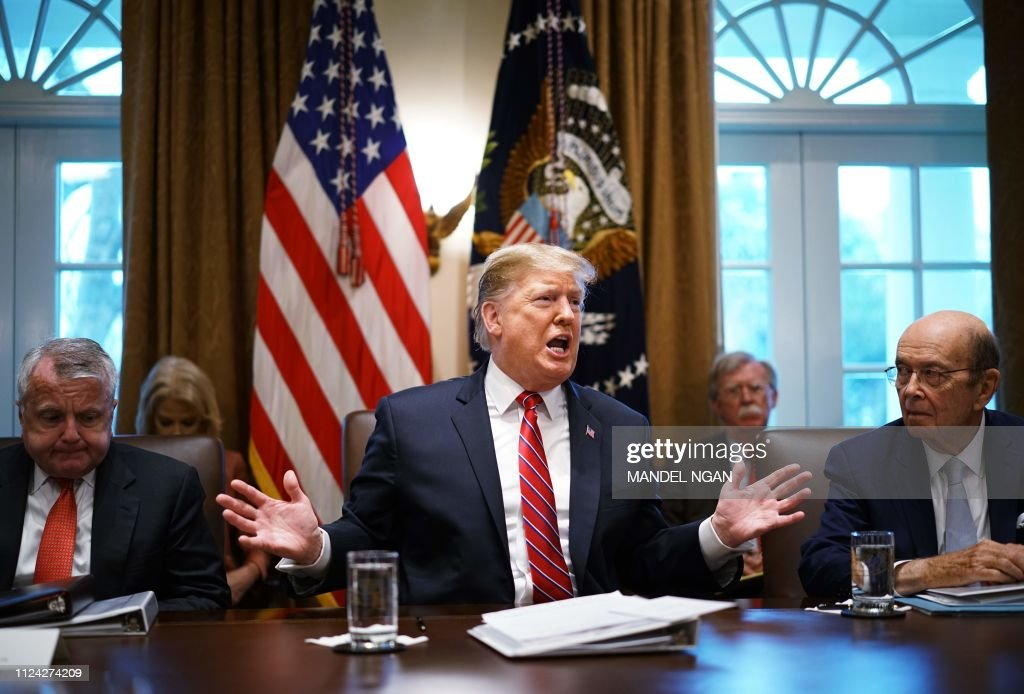 Us President Donald Trump Speaks During A Cabinet Meeting In The