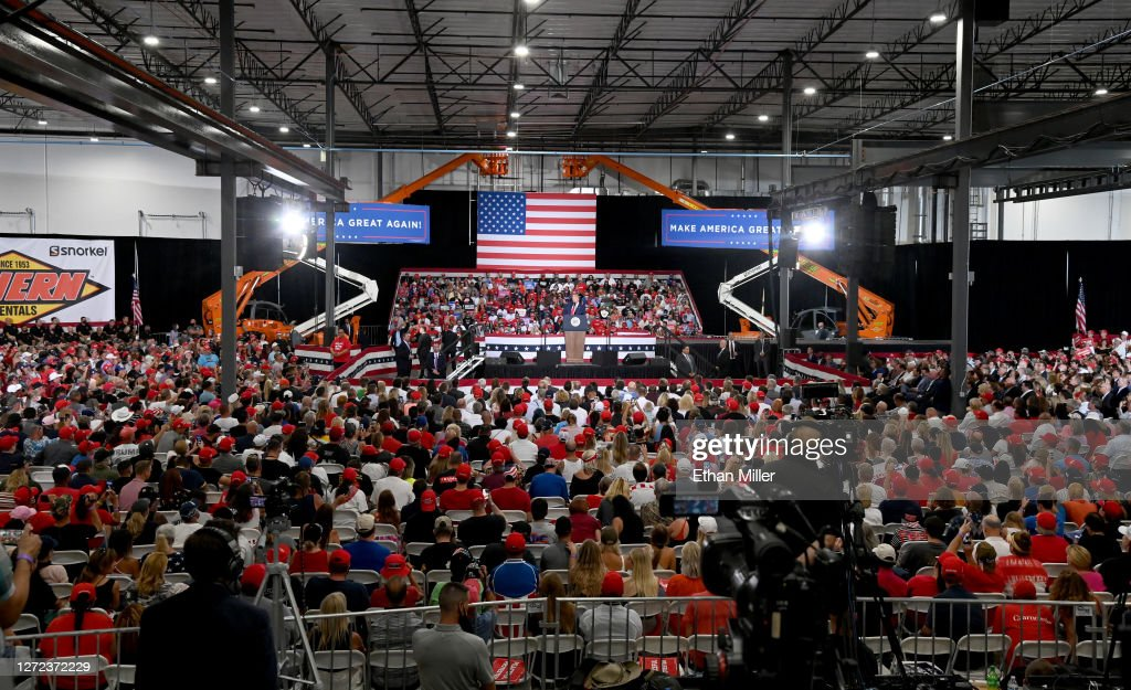 Donald Trump Holds Campaign Event In Nevada : News Photo