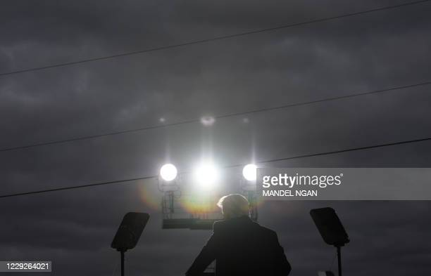 President Donald Trump speaks during a campaign rally at Pickaway Agriculture and Event Center in Circleville, Ohio on October 24, 2020.