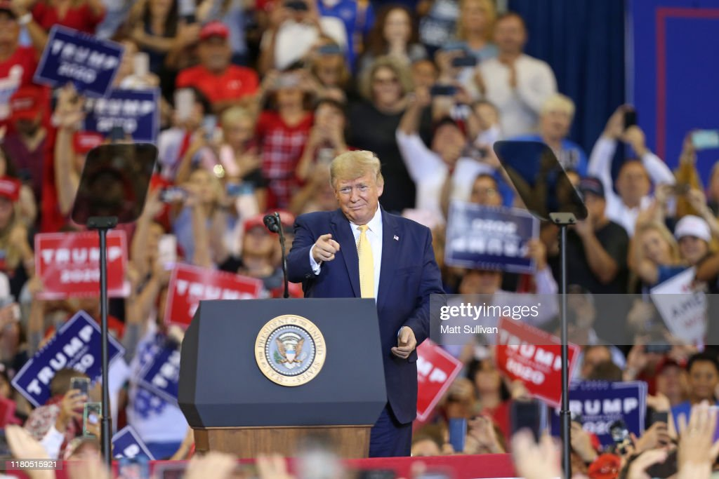 Donald Trump Holds A Campaign Rally In Lake Charles, Louisiana : News Photo