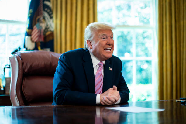DC: Easter Blessing To President Donald Trump In The Oval Office