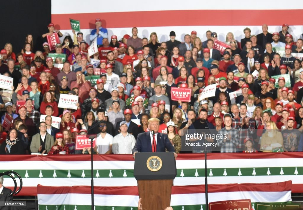 U.S. President Donald Trump's Rally in Battle Creek : Nieuwsfoto's