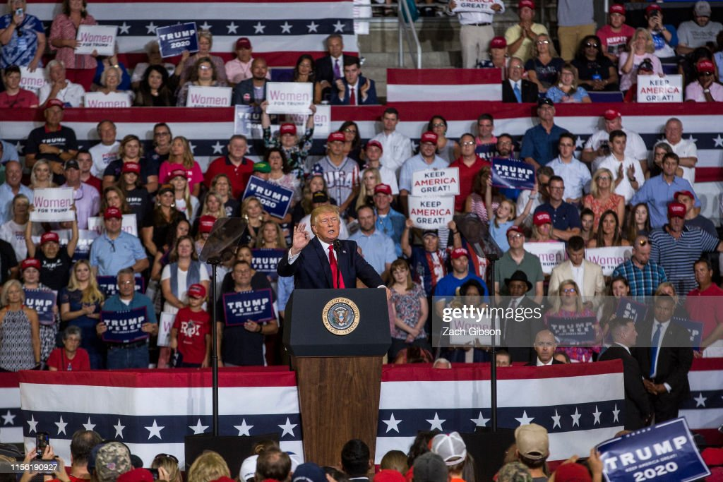"""Donald Trump Holds """"Keep America Great"""" Rally In Greenville, NC : News Photo"""