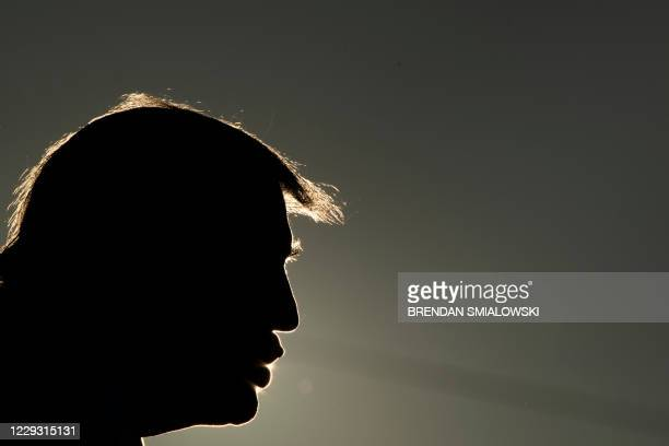 President Donald Trump speaks during a Make America Great Again rally at La Crosse Fairgrounds Speedway on October 27 in West Salem, Wisconsin.