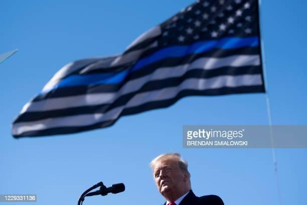 President Donald Trump speaks during a Make America Great Again rally at Laughlin/Bullhead International Airport October 28 in Bullhead City, Arizona.